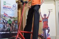 Stilt biker
