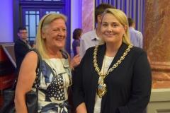 Councillor Rowena hay and Mayor Klara Sudbury