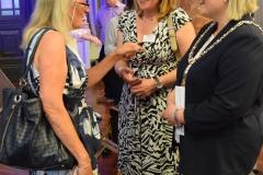 Councillor Rowena Hay, Tracey Crews and Mayor Klara Sudbury