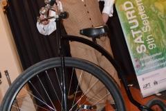 Penny farthing biker