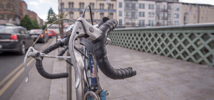 bike chained up