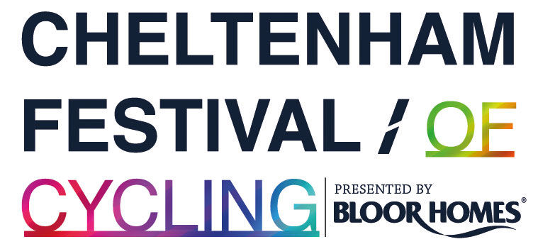 Logo for Cheltenham Festival of Cycling, presented by Bloor Homes