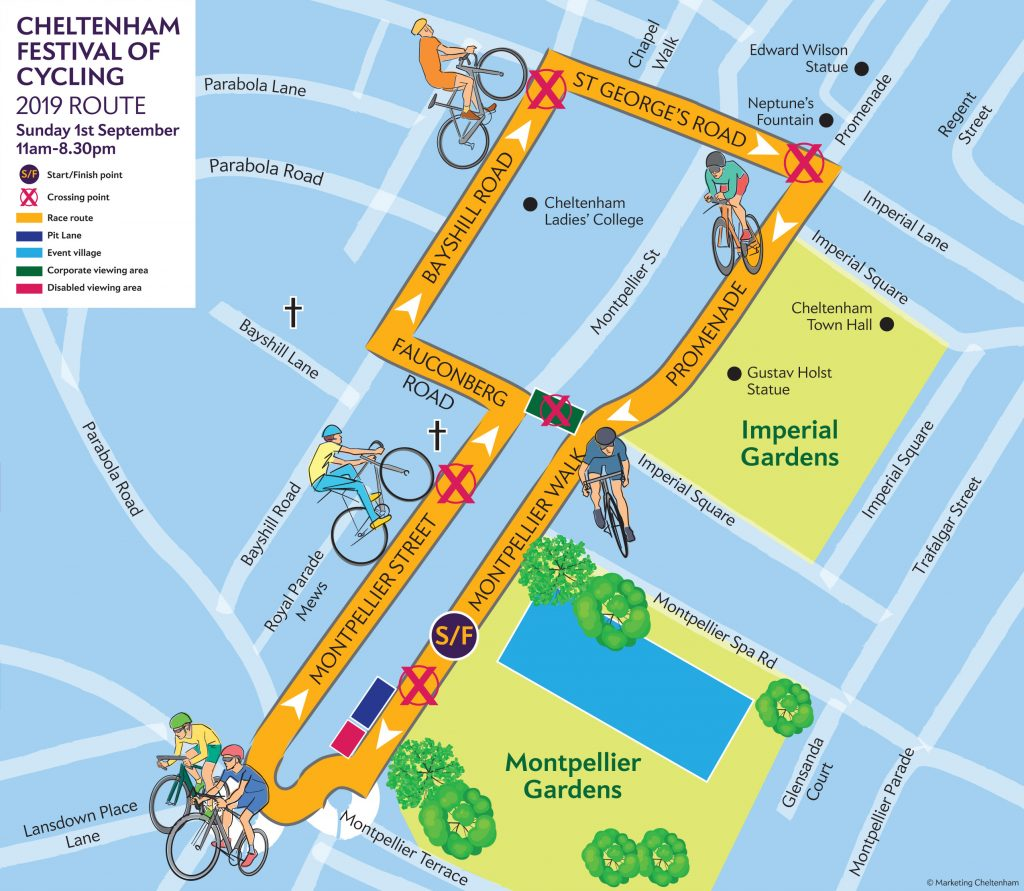 September 2019 festival of cycling race route map